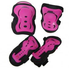 NO FEAR Skater BMX Scooter Trottinett Freestyle Protektoren Set Pink/Schwarz Grösse: Large