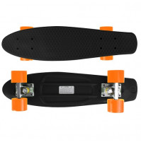 Candyboard Retro Penny Style Skateboard Cruiser ABEC-7 Schwarz/Orange