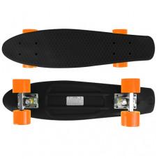 Candyboard Retro Penny Style Skateboard Cruiser ABEC-7 Schwarz/Orange