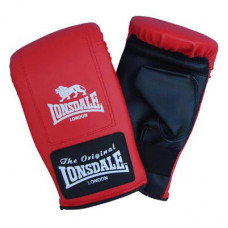 Lonsdale Exercise Mitts MMA Boxen Kampfsport Rot Schwarz Grösse: L
